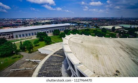 Aerial view of Lagos Mainland and Lagos Metro Line