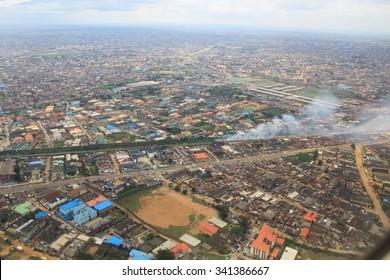 Aerial View of Lagos, Nigeria