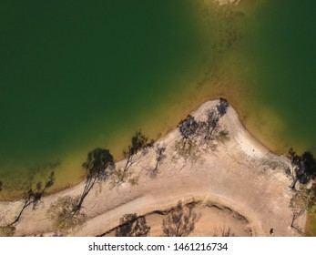 Aerial view from a lake. Alentejo Portugal
