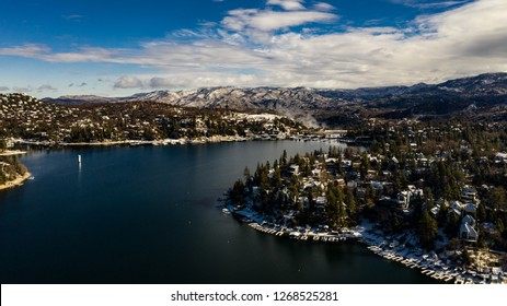 snow in lake arrowhead