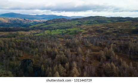 Aerial view of the Lake District, UK