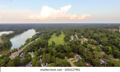 Aerial view of Lake Forest in Daphne, Alabama