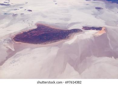 Aerial view of Lake Gairdner