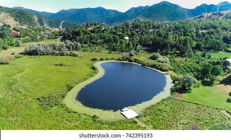 Aerial view of lakes on Durmitor mountains, Serbia