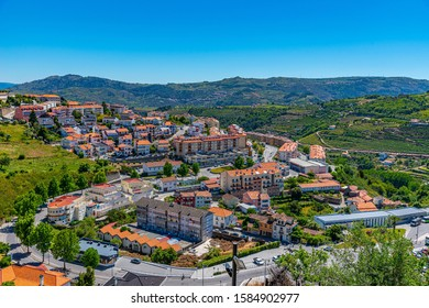 Aerial view of Lamego town in Portugal