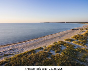 Aerial view landscape of Baltic Sea