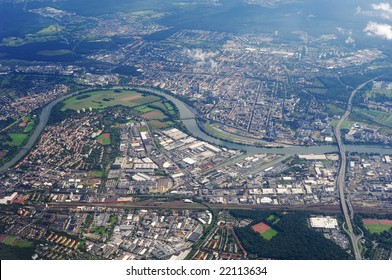 aerial view the landscape of europe city