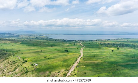 Aerial view of the landscapes of Hawassa, Ethiopia
