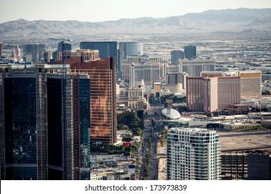 Aerial view of Las Vegas taken fpom Stratosphere