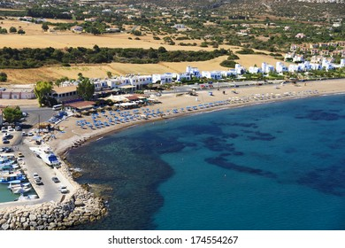 Aerial view of Latchi beach, Paphos area, Cyprus