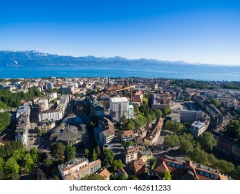 Aerial view of Lausanne, Switzerland