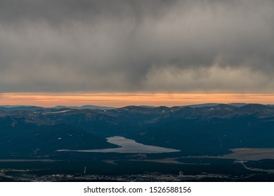 An aerial view of Leadville, from the summit of Mount Sherman.