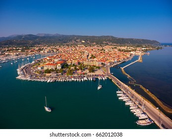 Aerial view of Lefkada town