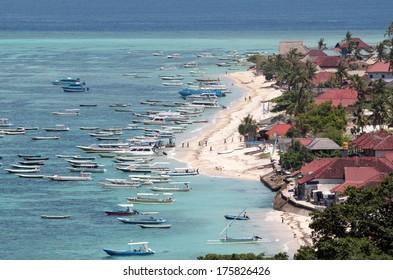 Aerial view of Lembongan island in Bali