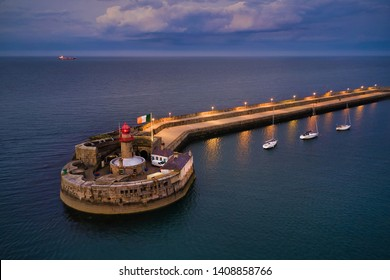 Aerial view Lighthouse in Dún Laoghaire, Dublin, Ireland