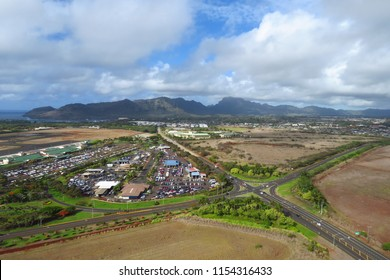 Aerial view of Lihue, Kauai, Hawaii