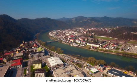 Aerial View of Litija, Slovenia