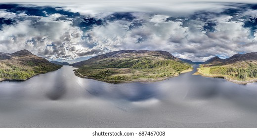 Aerial view of Loch Leven between Caolasnacon and Glencoe, Lochaber, Scotland