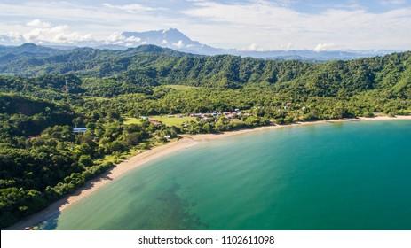 Aerial view at Loknunuk beach, Tuaran Sabah, Malaysia