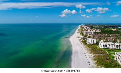 An aerial view of Longboat Key, Florida.