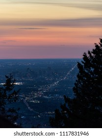 An aerial view from Lookout Mountain, in Golden, Colorado.