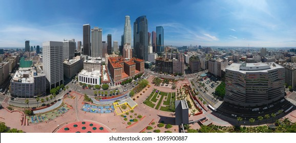 AERIAL VIEW of LOS ANGELES - 360 DEGREES PANORAMA - DRONE