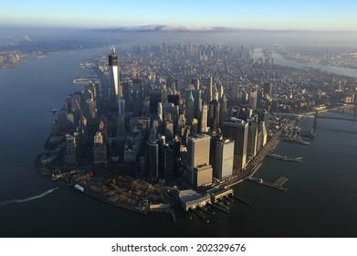 Aerial view of Lower Manhattan, New York