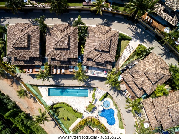 Aerial View of Luxury Residences, Juquehy, Sao Paulo, Brazil