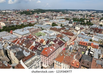 Aerial View Building Lviv City Ukraine Stock Photo (Edit Now