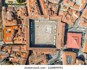Aerial view of main square called in Spanish Plaza Mayor in Salamanca Spain