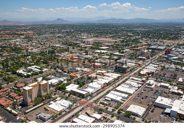 Aerial View Main Street Downtown Mesa Stock Photo Edit Now 298905374