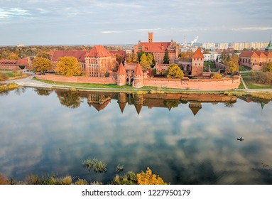 Aerial view for Malbork castle