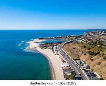 Aerial view to Malibu Beach