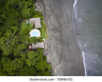 Aerial view of Mango Beach in El Salvador