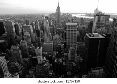 Aerial view of Manhattan midtown and downtown