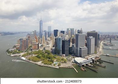 Aerial view of  Manhattan, New York City, U.S.A.