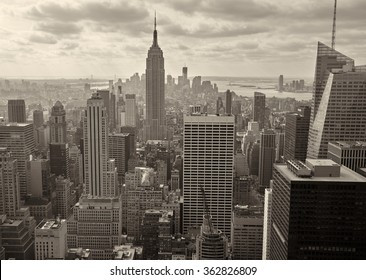 Aerial view of Manhattan, USA