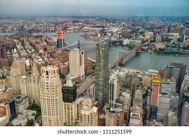 Aerial view of Manhattann New York City