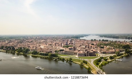 aerial view of Mantua Italy