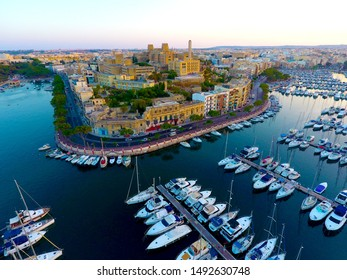 Aerial View of the Marina in Malta