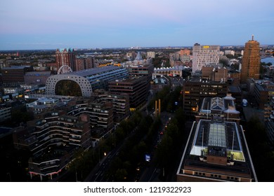 Aerial view of Markthal, a modern dutch marketplace Rotterdam, Netherland on Oct.  28, 2018