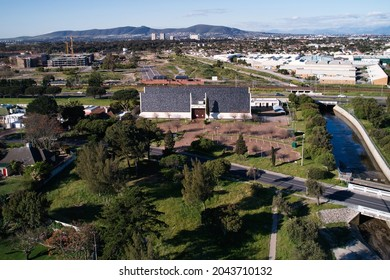 Aerial view of the Masonic Centre in Pinelands, Cape Town, Western Province, South Africa. 15 September 2021.