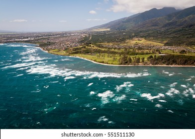 Aerial view of Maui coast