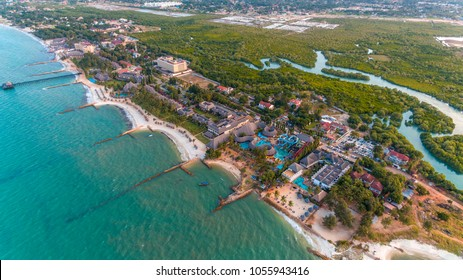 aerial view of the Mbezi beach resort area, dar es salaam, Tanzania