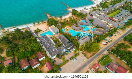 aerial view of the mbezi resorts area , city of Dar es Salaam