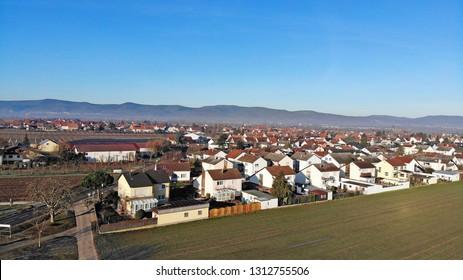 Aerial view of Meckenheim, Rhineland-Palatinate, Germany