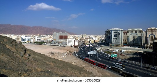 Aerial view of medina in Saudi Arabia