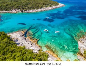 aerial view of mediterranean beach