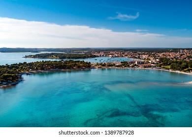 Aerial view from Medulin beach, Croatia