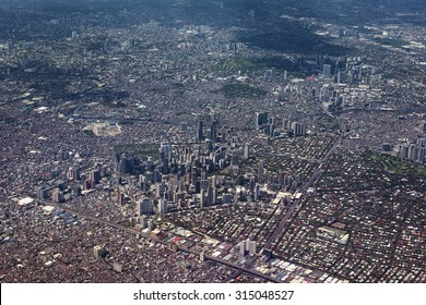 Aerial view of Metro Manila, Philippines.